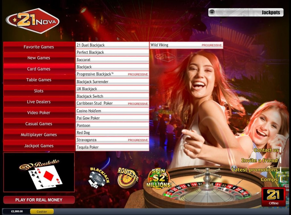InternetCasinos 21nova Casino at a Glance