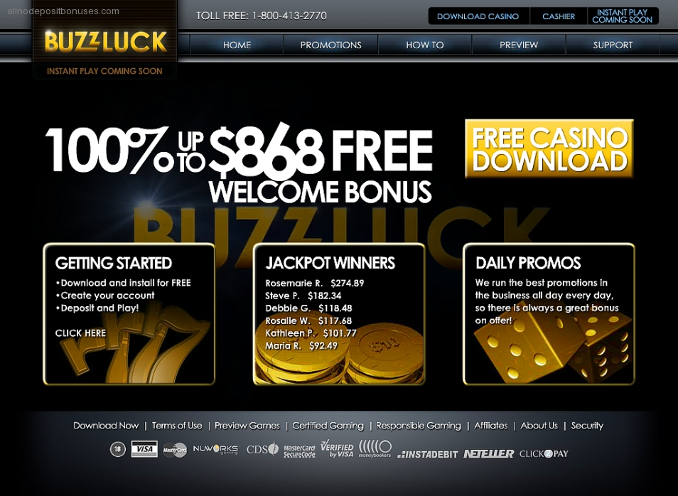 InternetCasinos - Buzzluck Casino Buzzluck Casino at a Glance